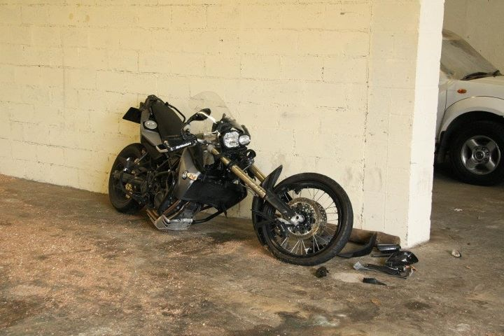BMW F800GS, Dual Sport, Accident, Crash