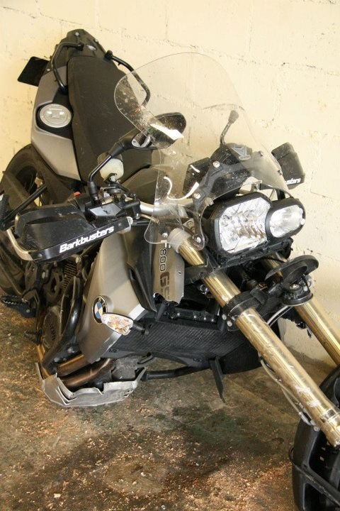 BMW F800GS, Dual sport, accident,